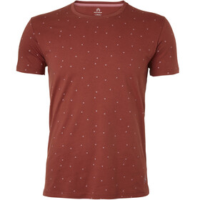 North Bend Diamond T-Shirt Herren red clay